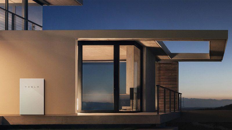 Modern Tesla solar powered home